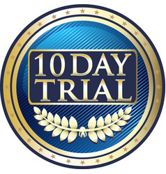 ten day trial icon vector image vector image
