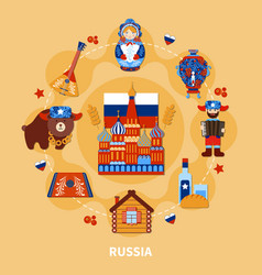 Travel to russia composition vector