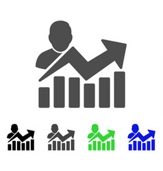 User chart flat icon vector