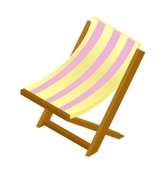 Wooden chaise lounge isometric 3d icon vector image