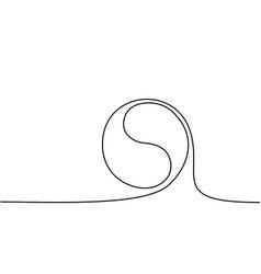 yin yang symbol sign vector image vector image