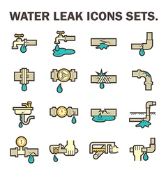 water leak icon vector image