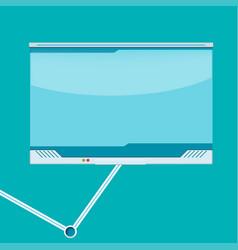 Monitor border high technology design vector