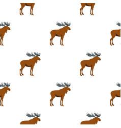 Moose pattern flat vector