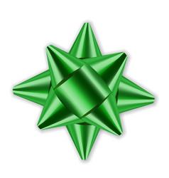 Bow ribbon christmas vector