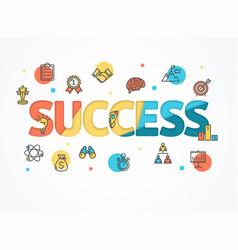 Success start up concept paper art vector