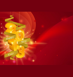 2013 happy new year decorations vector
