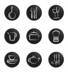 Kitchenware objects vector