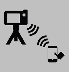 remote shooting vector image