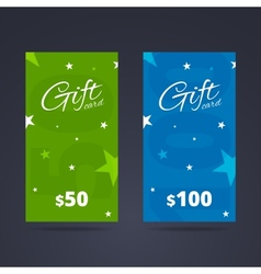 Vertical gift card template with calligraphic font vector