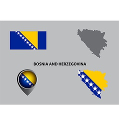 Map of bosnia and herzegovina and symbol vector