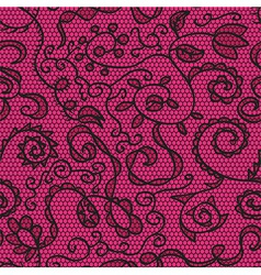 Pink lace fabric seamless pattern vector