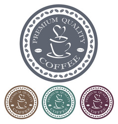 Premium quality coffee label stamp design element vector