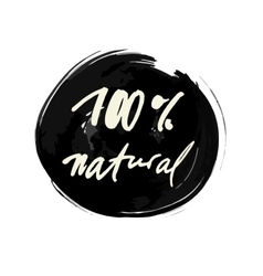 100 percent natural label vector