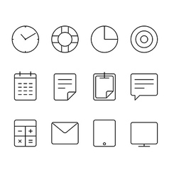 Different thin web icons set vector