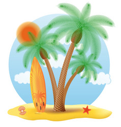 Tropical palm tree 06 vector