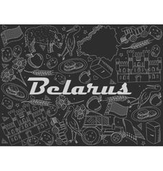 Belarus chalk vector