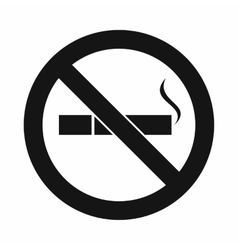 No smoking sign icon simple style vector
