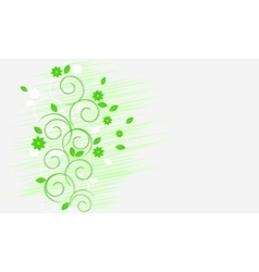 Light green curls vector