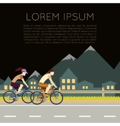 Bicycle trip banner vector image