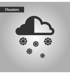 Black and white style cloud snow vector