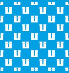 box pattern seamless blue vector image