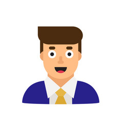 Business man in suit office worker manager flat vector