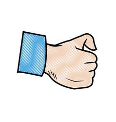 Cartoon hand man physician image vector