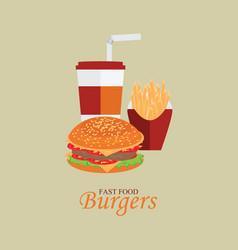 Fast food menu with cheeseburger vector