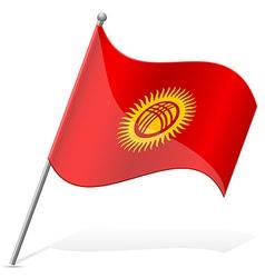 Flag of kyrgyzstan vector