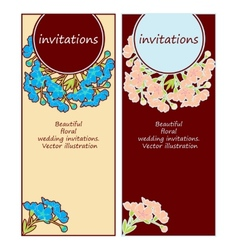 floral wedding invitations vector image vector image