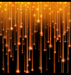 gold glitter light shine effect falling stars vector image