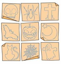 Halloween post-it vector image vector image