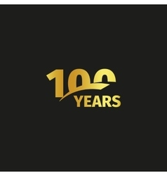 Isolated abstract golden 100th anniversary logo on vector image vector image