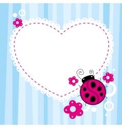 ladybird background vector image vector image