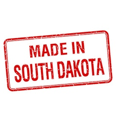 Made in south dakota red square isolated stamp vector