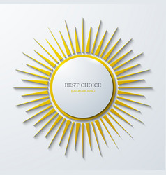 modern sun icon background on white vector image