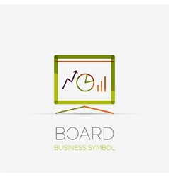 Presentation board company logo business concept vector