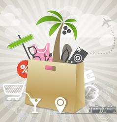 Travel season discount tour vector