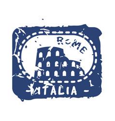Vintage postage italia mail stamp vector