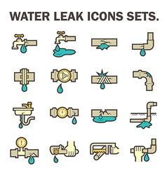 water leak icon vector image vector image