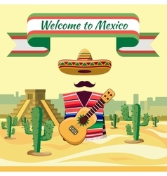 Welcome to mexico vector