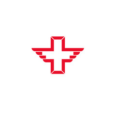 wing cross health icon vector image
