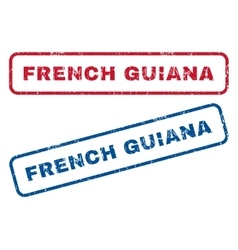 French guiana rubber stamps vector