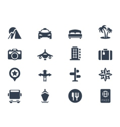 Trave icons vector
