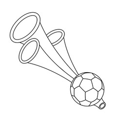 trumpet football fanfans single icon in outline vector image