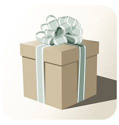 Gift box whit big ribbon vector