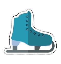 Cartoon ice skate sport leisure vector