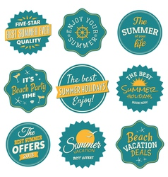 Vintage summer labels collection vector