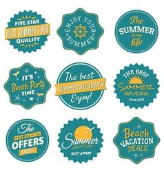 Vintage summer labels collection vector